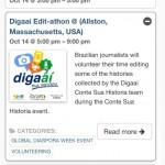 Agenda de eventos durante a Semana Global da Diaspora/2014