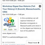 Agenda de eventos - Digaaí sua historia