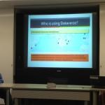 Elizabeth apresenta a ferramenta Harvard Dataverse e seu alcance mundial