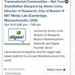 Agenda de eventos Global Diaspora Week no destaque a Palestra do digaai no MIT Media Lab